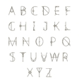 Modern geometric alphabet vector image vector image