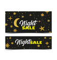 night sale dark banner vector image vector image