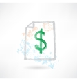 Paper dollar grunge icon vector image vector image