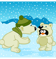 polar bear penguin dressed as bear vector image vector image