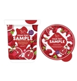 Pomegranate Yogurt Packaging Design Template vector image vector image