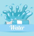 pure water design vector image vector image
