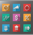 sale discounts icon set flat icons with long vector image