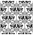 scandinavian folk seamless pattern repetit vector image vector image