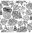 Seamless background with cute forest animals vector image vector image
