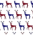 Seamless Pattern with deers Christmas background vector image vector image