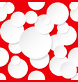 seamless texture circles for design on red vector image vector image