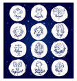 set of round zodiac signs vector image vector image