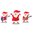 set santa claus christmas collection vector image