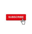 set subscribe button icon vector image