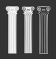 set symbols column vector image