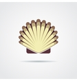 Shell symbol isolated on a white background vector image vector image