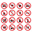 sign icon set vector image