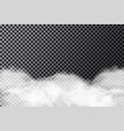 smoke cloud on transparent background realistic vector image