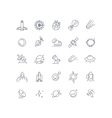 Space and astronomy line icons vector image vector image