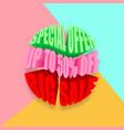 special offer big sale banner vector image