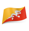 State flag of Bhutan vector image vector image