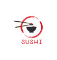 sushi logo template vector image vector image
