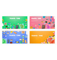 travel time set of banners on travel vacation vector image vector image