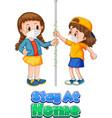 two kids cartoon character do not keep social vector image