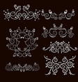 vintage frames and scroll elements6 vector image vector image