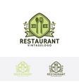 vintage restaurant logo vector image vector image