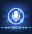 voice id tech icon and futuristic background vector image