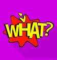 what icon pop art style vector image vector image