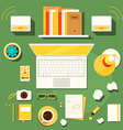 workplace of writer blogger vector image vector image