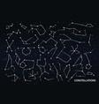 zodiac constellations set vector image vector image