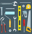 remodel construction tools set vector image