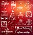 Christmas vintage label set vector image