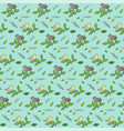 cute hand drawn pattern with birds on branches vector image