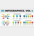 3d perspective infographics pack cycle vector image vector image