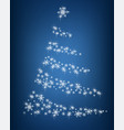 abstract christmas tree of snowflakes and sparks vector image