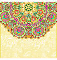 abstract circle floral background vector image vector image