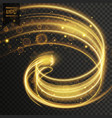 abstract golden transparent light effect vector image vector image