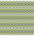 african geometric seamless pattern pixel art and vector image vector image