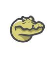 aligator green reptile icon cartoon vector image