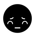 angry black kawaii emoticon face vector image