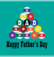 billiards fathers day vector image vector image