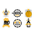 Brewery craft beer retro labels set best recipe