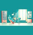 cabinet of dentist orthodontist cartoon vector image vector image