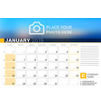 calendar for january 2019 design print template vector image vector image