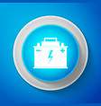 car battery icon accumulator battery energy power vector image