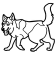 cartoon dog coloring page vector image vector image