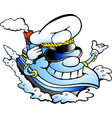 cartoon of a happy ship captain mascot vector image