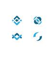 chain logo design vector image