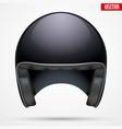 classic motor carbon helmet model vector image vector image