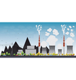 Coal power plant or factory vector image vector image